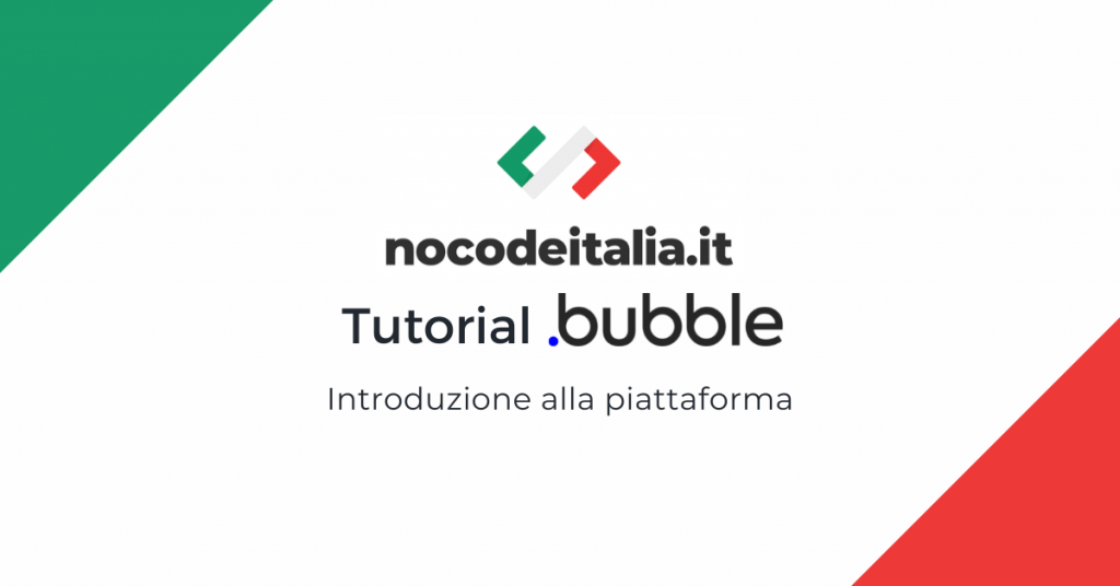 tutorial bubble in italiano nocode