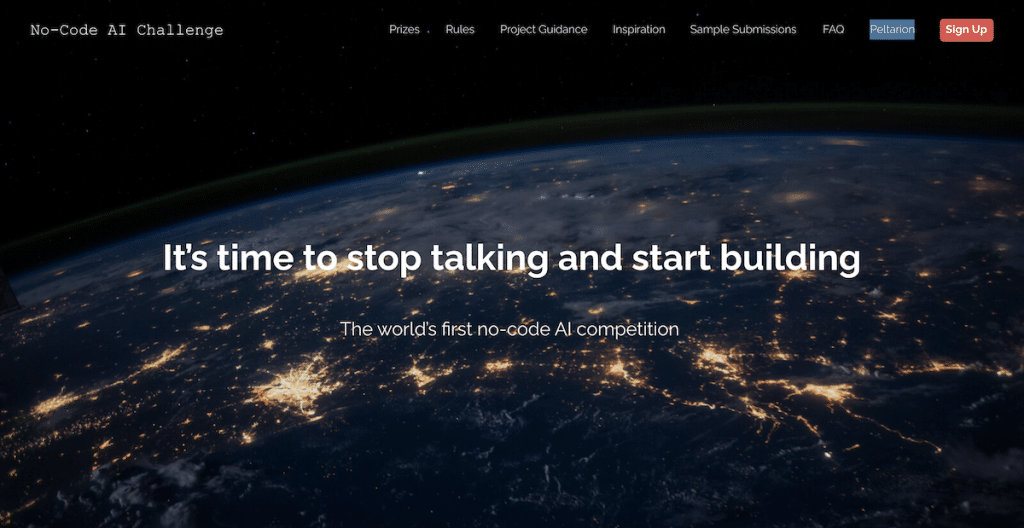 no-code ai challenge hackathon intelligenza artificiale