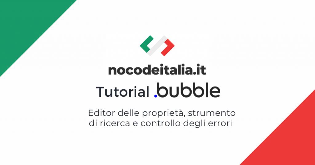 bubble italiano tutorial nocode applicazioni