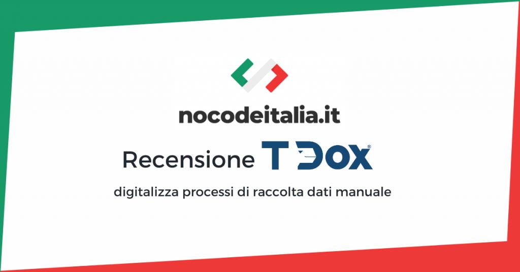 recensione t-dox nocode lowcode